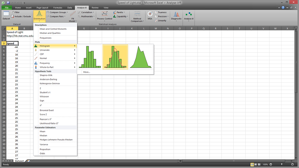 Statistical analysis add-in software for Microsoft Excel | Analyse-it®